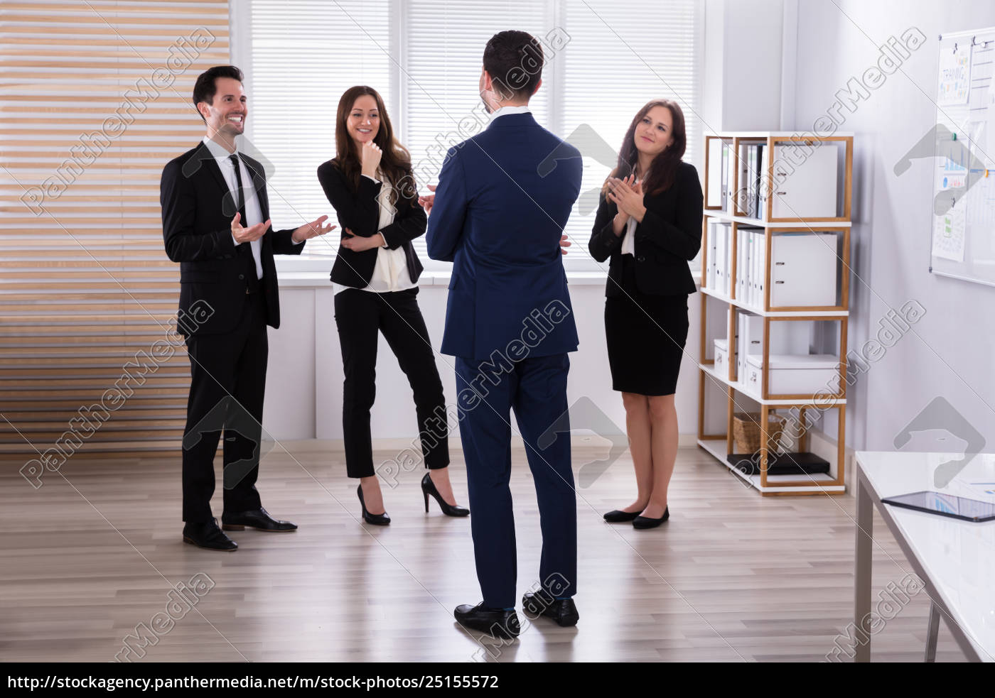 manager, with, his, colleague, having, discussion - 25155572