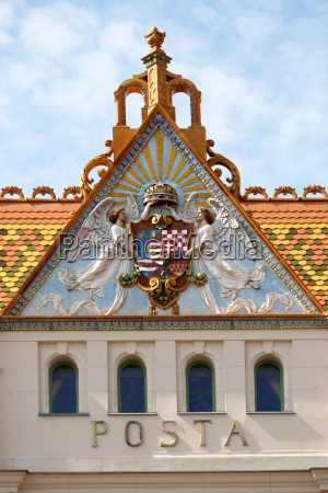 roof with typical tiles from zsolnay