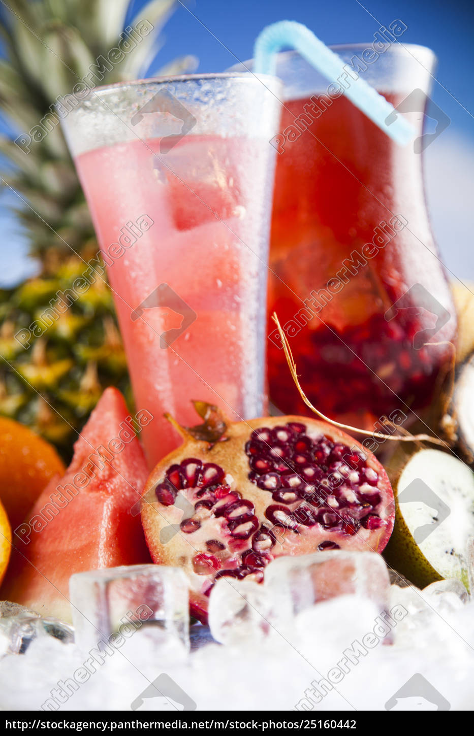 fresh, tropical, fruits, , summer, drink, and - 25160442