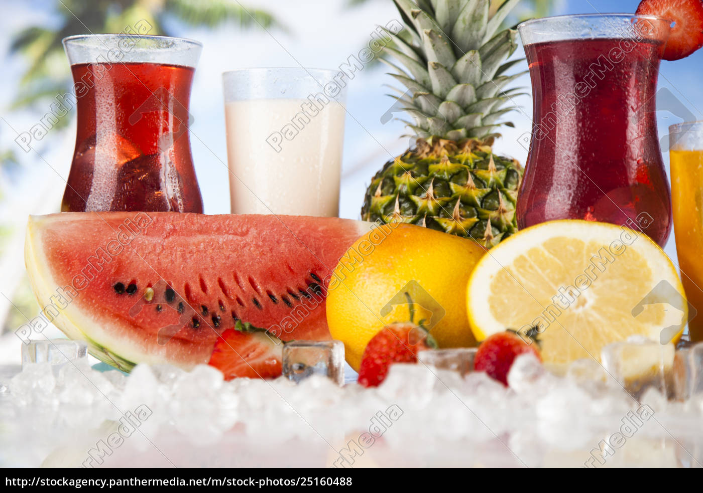 fresh, tropical, fruits, , summer, drink, and - 25160488