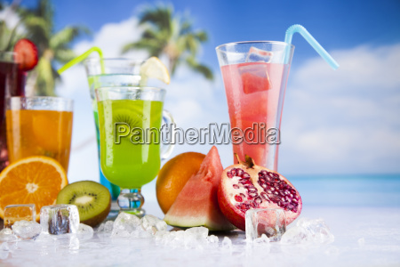 summer, drink, , palm, branch, and, fresh - 25160608