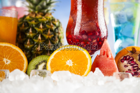 summer, drink, , palm, branch, and, fresh - 25160790