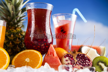 summer, drink, , palm, branch, and, fresh - 25160896
