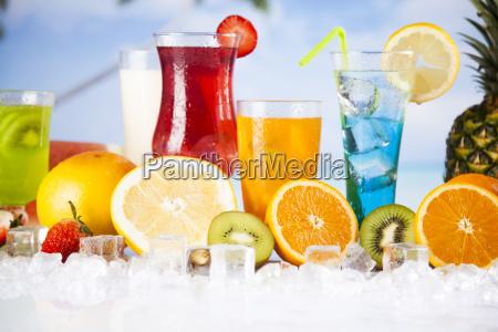 tropical, cocktails, set - 25160828