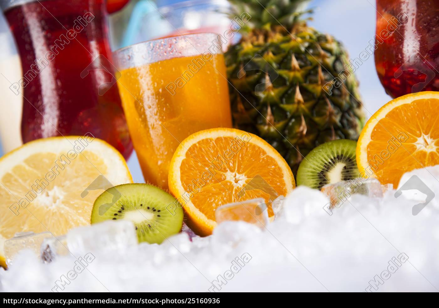tropical, cocktails, set - 25160936