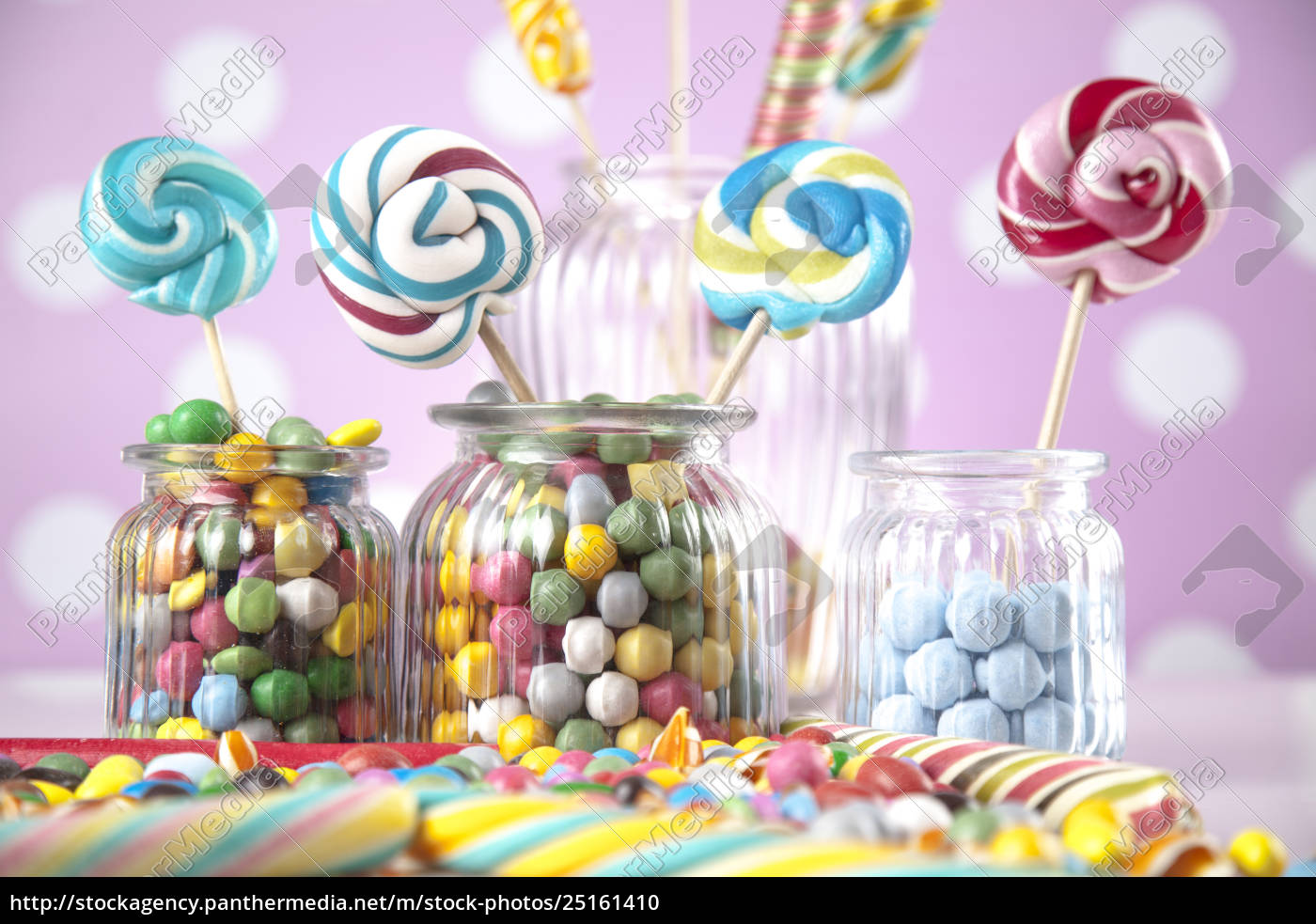 different, colorful, sweets, and, lollipops - 25161410