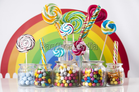 different, colorful, sweets, and, lollipops - 25161810