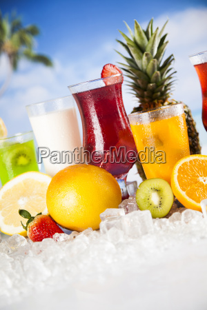 fresh, tropical, fruits, , summer, drink, and - 25161730