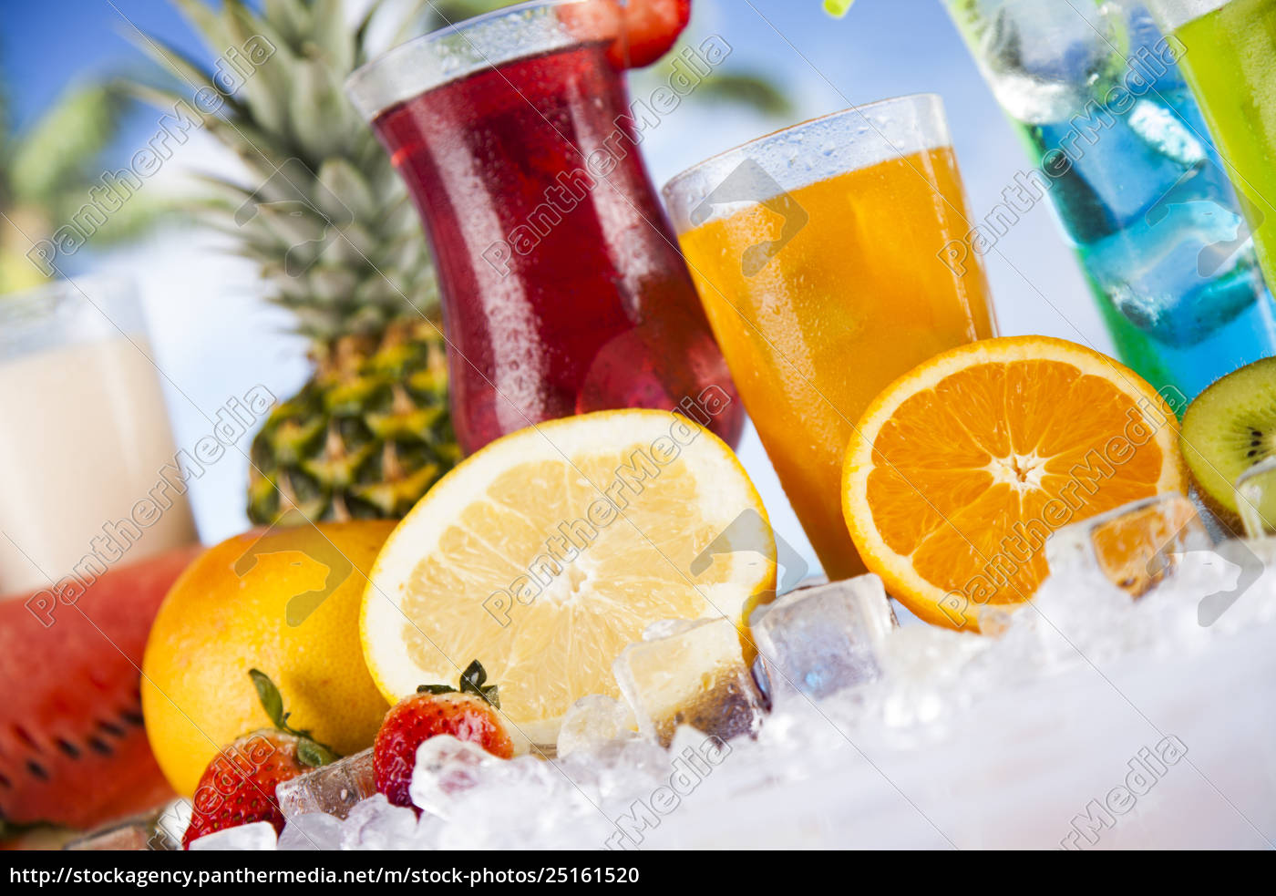 summer, drink, , palm, branch, and, fresh - 25161520