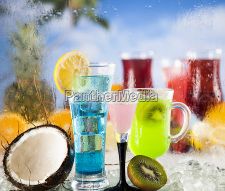 summer, drink, , palm, branch, and, fresh - 25161668