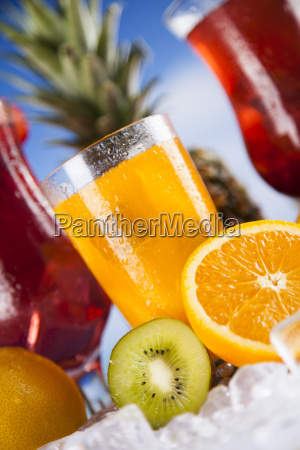 summer, drink, , palm, branch, and, fresh - 25161884