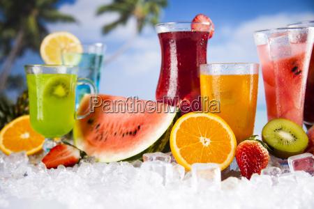 tropical, cocktails, set - 25161168