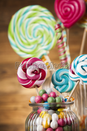 different, colorful, sweets, and, lollipops - 25162998