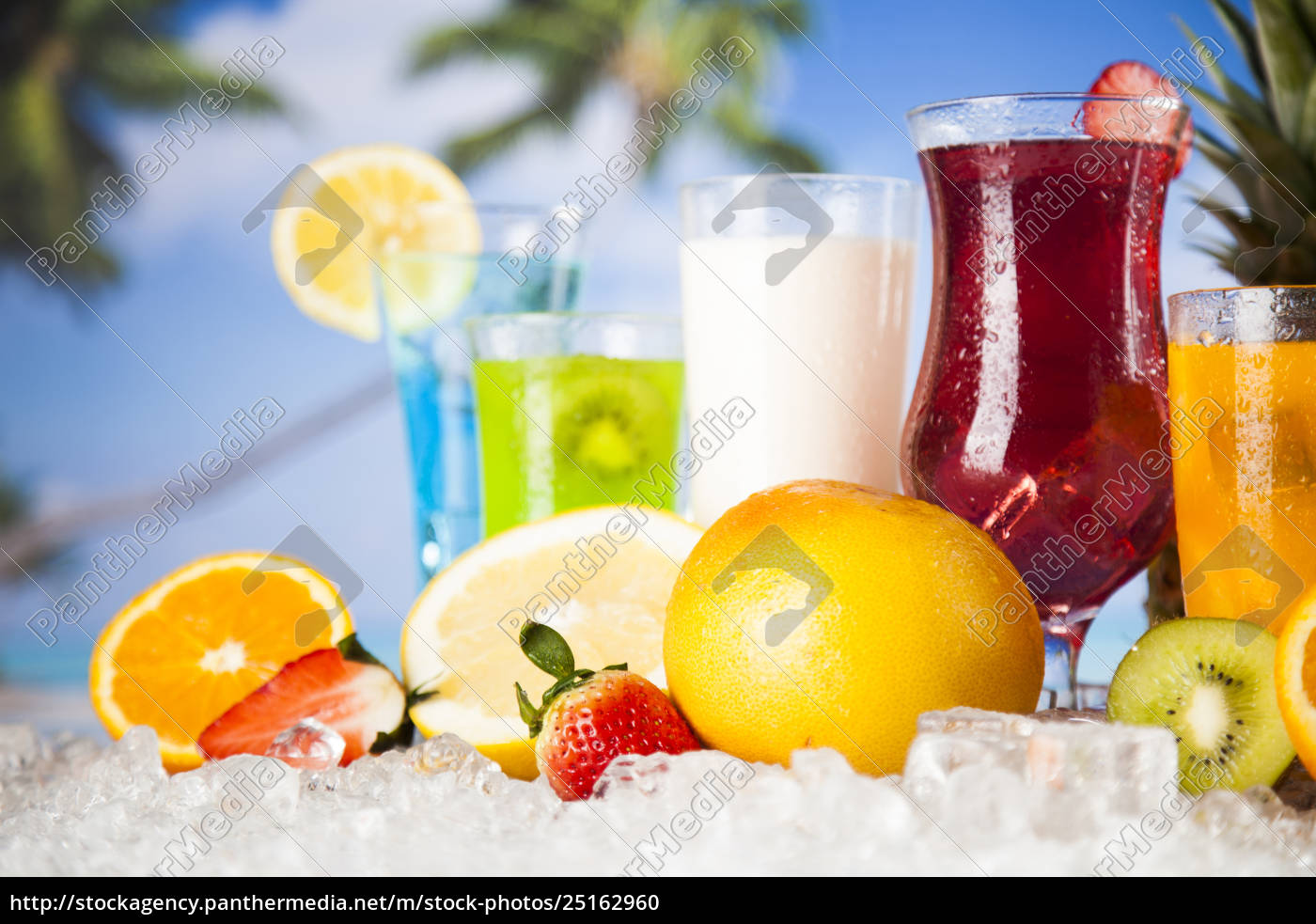 summer, drink, , palm, branch, and, fresh - 25162960