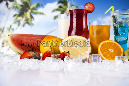 summer, drink, , palm, branch, and, fresh - 25162970