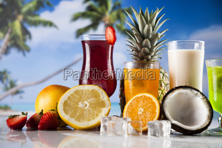 summer, drink, , palm, branch, and, fresh - 25163002