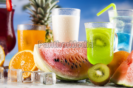 summer, drink, , palm, branch, and, fresh - 25163094