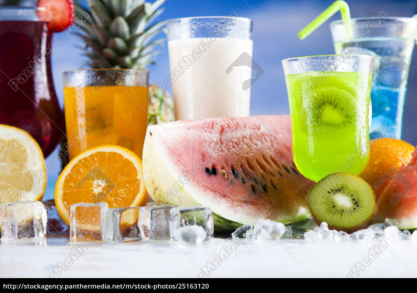 tropical, cocktails, set - 25163120