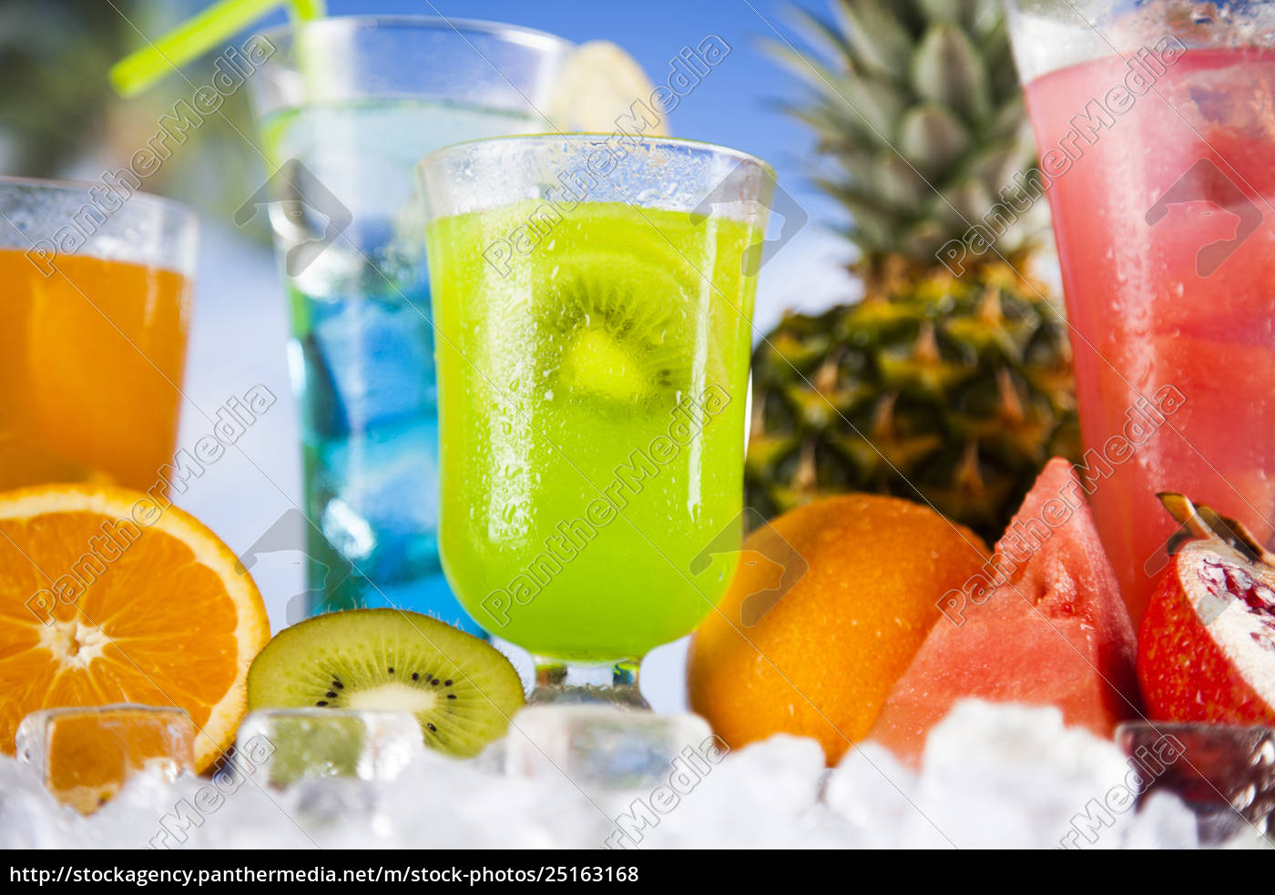 tropical, cocktails, set - 25163168