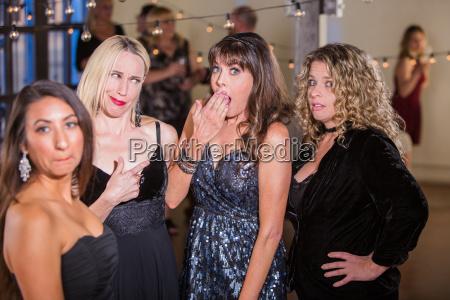 women, reacting, to, gossip, or, dirty - 25164464