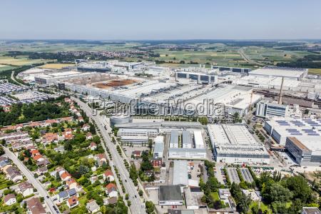 industry industrial plant europe bavaria aerial