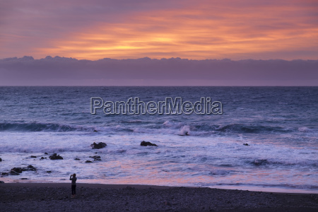 evening mood by the sea la