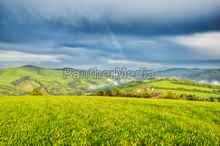 bucolic hill green sights europe mood