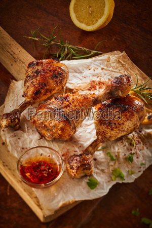 spicy seasoned chicken legs marinated in