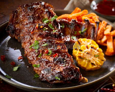 spicy marinated barbecued portion of spare