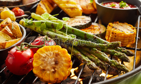 healthy, fresh, summer, vegetables, grilling, on - 25177466