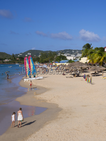 view of the rodney bay beach