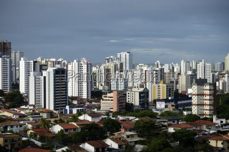 high rise landscape salvador bahia brazil
