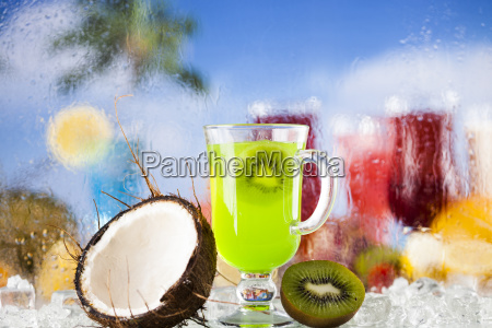 summer, drink, , palm, branch, and, fresh - 25206584