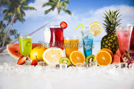 summer, drink, , palm, branch, and, fresh - 25206654