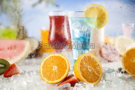 summer, drink, , palm, branch, and, fresh - 25206828