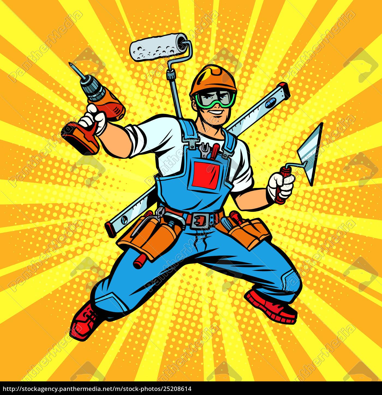 multi-armed, builder, repairman - 25208614