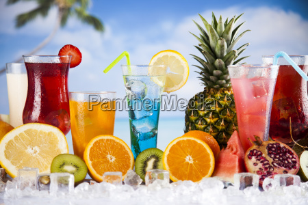 summer, drink, , palm, branch, and, fresh - 25209956