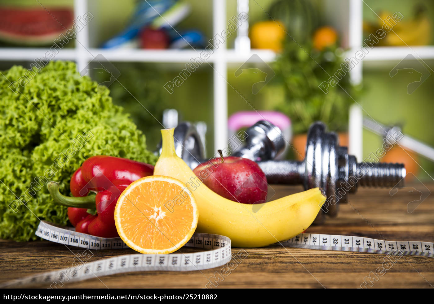 diet, and, fitness, , dumbbell, with, vitamin - 25210882