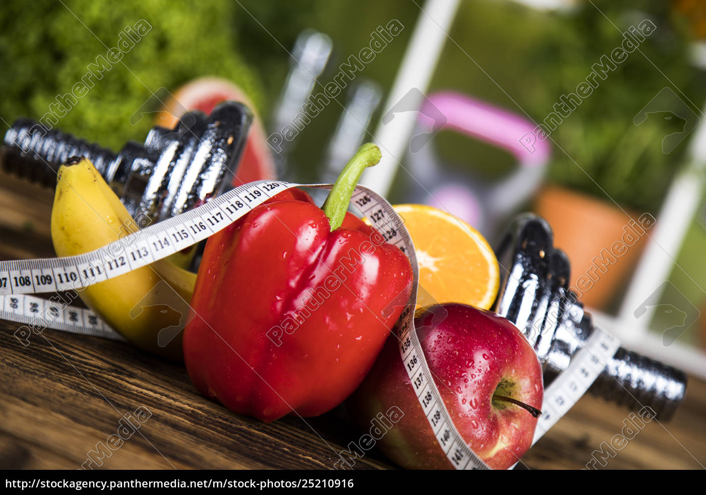 diet, and, fitness, , dumbbell, with, vitamin - 25210916