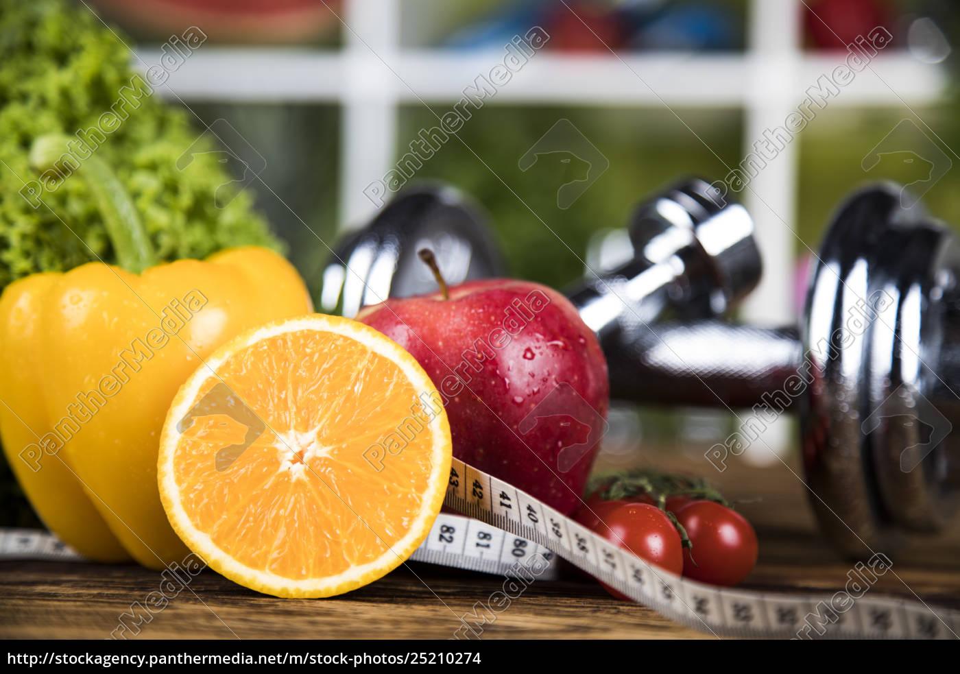 fresh, food, and, measure, tape, sport, diet - 25210274