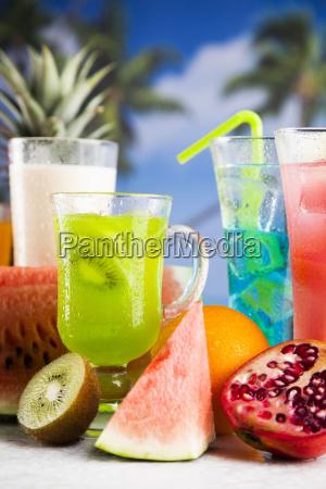 tropical, cocktails, set - 25210042