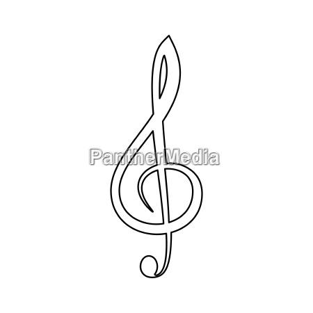 treble clef the black