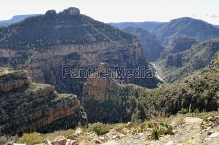 bucolic usa deserted ravine arizona day