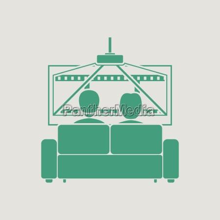 cinema sofa icon
