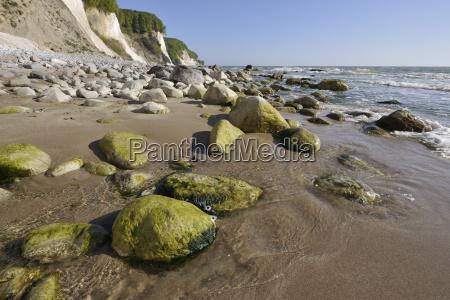 steep coast stone beach and chalk