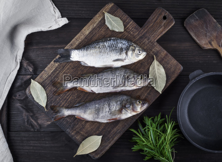 river fish crucian and perch on