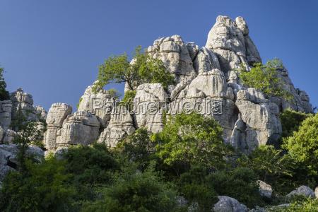bizarre rock formations of limestone el