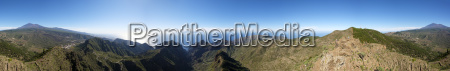 360 degree panorama of pico verde