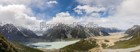 view into the hooker valley from