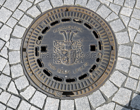 gossendeckel sewerage of the city of